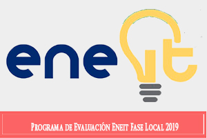 Programa de Evaluación ENEIT 2019 Fase Local